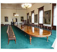 Dining Table with Seating for Forty Poster