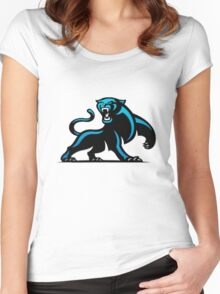 Carolina Panthers Logo 4 Women's Fitted Scoop T-Shirt