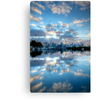 Mirrored Clouds Canvas Print