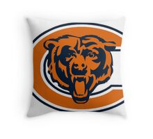 Chicago Bears Logo 1 Throw Pillow