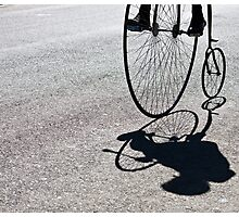 Penny-farthing shadow Photographic Print
