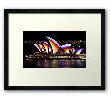 Psychedelic Sails - Sydney Vivid Festival - Sydney Opera House Framed Print