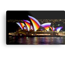 Psychedelic Sails - Sydney Vivid Festival - Sydney Opera House Metal Print