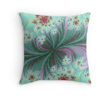 Flower Waves Throw Pillow