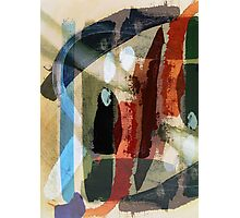Textural Studies - St Pancras, Painting-to-print by Jenny Meehan  Photographic Print