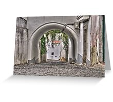 Streets of Beja, Portugal Greeting Card