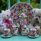 Little Bear tea party by Marjorie Wallace