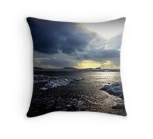 Worms Head from Rhossili Beach 2 Throw Pillow