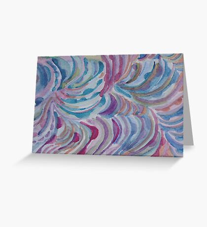 Colored Commas Greeting Card