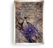 Thank You For Your Friendship Canvas Print