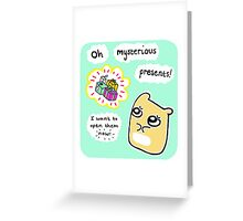 Scared Hamster Greeting Card
