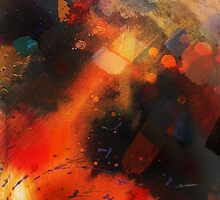 Fire of Love from Love Bade Me Welcome, painting-print by Jenny Meehan  by jenny meehan