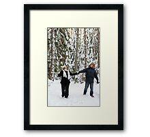 Couple in forest Framed Print