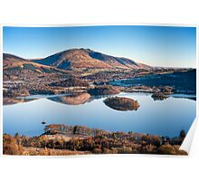 Winter Morning above Derwent Water  Poster