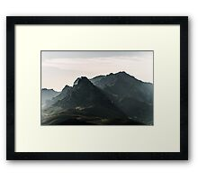 Back to the mountains Framed Print