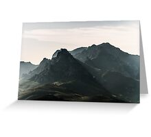 Back to the mountains Greeting Card
