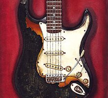 Jimi Hendrix burned his guitar by HermesGC