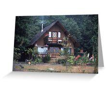 Grandma`s house in the Woods Greeting Card