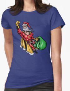 Super Santa Claus Womens Fitted T-Shirt