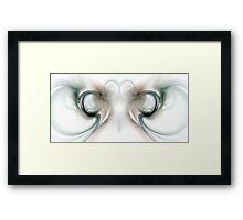 Heart and Smoke Framed Print