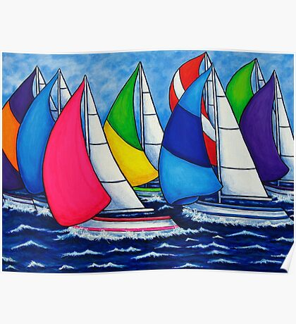 Colourful Regatta Poster