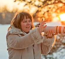 Photographer on sunset by fotorobs