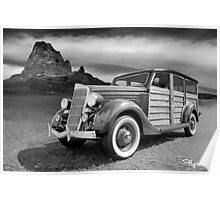 Riding with Ansel Adams Poster