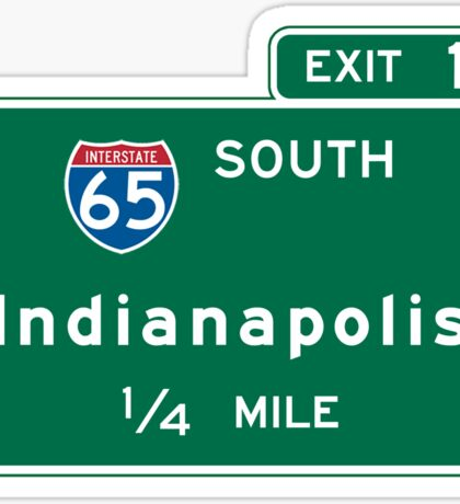 Indianapolis, IN Road Sign, USA Sticker