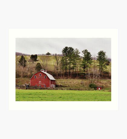 The Barn & The Well House Art Print