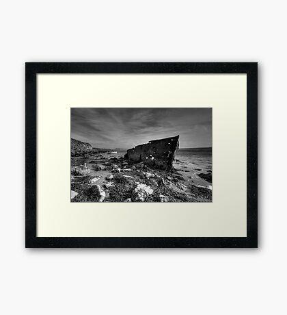 Dead Boat Framed Print