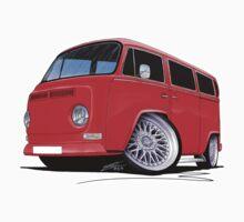 VW Bay-Window Camper Van (D) Red by Richard Yeomans