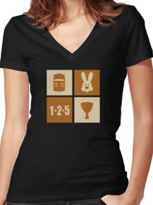 ICONIC GRAIL Women's Fitted V-Neck T-Shirt