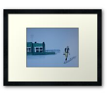 The gold has left green bay Framed Print