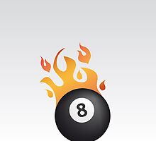 8 ball on fire by Alejandro Durán Fuentes