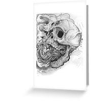 collaboration skull w/Micah Waugh Greeting Card
