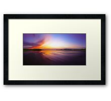 Coast Awash Panorama Framed Print