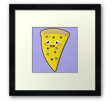 Kawaii Pizza Framed Print