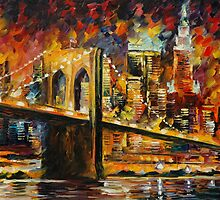 BROOKLYN BRIDGE - LEONID AFREMOV by Leonid  Afremov