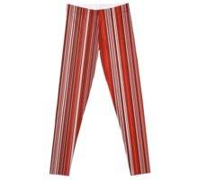 Many colorful stripe pattern in red on Leggings by pASob-dESIGN | Redbubble