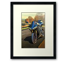 Sport motorcycle in Fall Framed Print