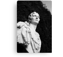 Statues in gardens Canvas Print