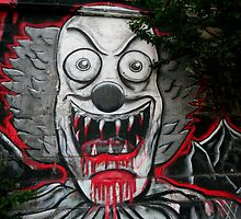 Clown graffiti by Jeff Hobbs