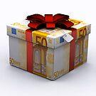 EURO Present Box with Red Ribbon by Atanas Bozhikov NASKO