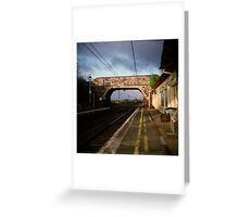 Right Track Wrong Train Greeting Card