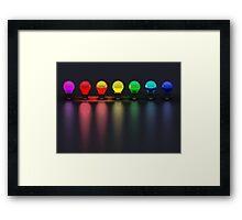 Disco Bulbs Framed Print