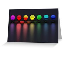 Disco Bulbs Greeting Card