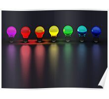 Disco Bulbs Poster