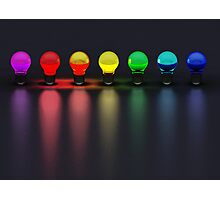 Disco Bulbs Photographic Print