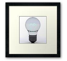 H2O Bulb Framed Print