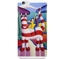 Genetic cat and lovers in softscape with trees iPhone Case/Skin